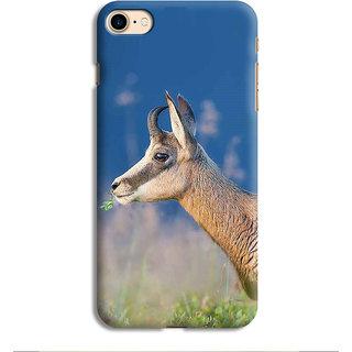 PrintVisa Deer Face Orange Yellow wild Designer Printed Hard Back Case For iPhone 7 - Multicolor