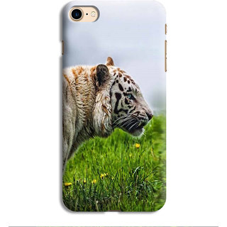 PrintVisa Tiger Face Orange Yellow wild Designer Printed Hard Back Case For iPhone 7 - Multicolor