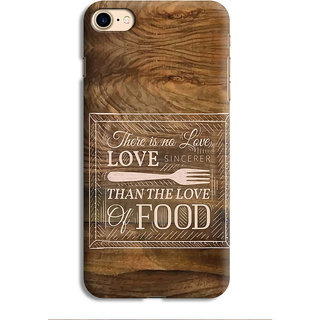 PrintVisa Love Fork Than The Pyaar Of Food Designer Printed Hard Back Case For iPhone 7 - Multicolor