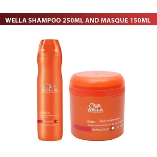 Wella Professionals Enrich(ORANGE) Moisturizing Treatment Shampoo 250ml And Masque 150ml