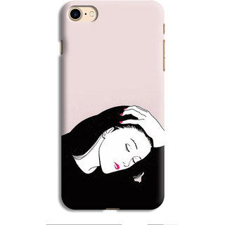 PrintVisa Lady Girl Ladki Scarf Lovely Good Gift Designer Printed Hard Back Case For iPhone 7 - Multicolor
