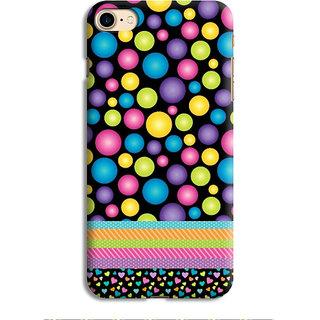 PrintVisa Multicolor Ethnic Design Bubbles Designer Printed Hard Back Case For iPhone 7 - Multicolor