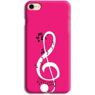 PrintVisa Music Symbol Designer Printed Hard Back Case For iPhone 7 - Multicolor