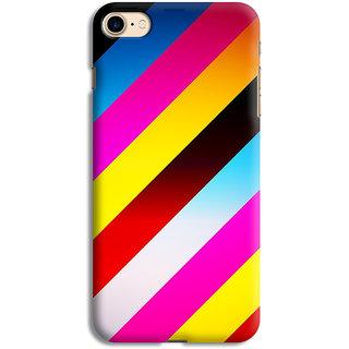 PrintVisa Lines Colorfull Design Pattern Gradient Designer Printed Hard Back Case For iPhone 7 - Multicolor