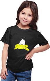 Haoser Tshirt for Girl, Cotton Half Sleeve Round Neck Printed Regular Fit Kids Tshirt for Girls