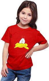 Haoser Printed Cotton kids tshirts for girls, Red tshirt for kids