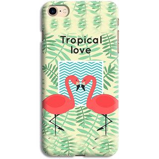 PrintVisa Love Bird Art Theme Designer Printed Hard Back Case For iPhone 7 - Multicolor