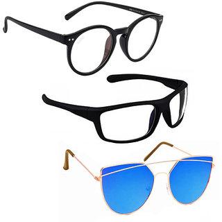 Vitoria Stylish & Fashionable Sunglasses With Box For Men Women Boys & Girls  (Pack Of 3)