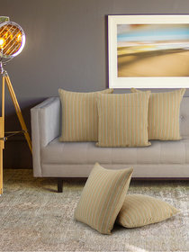 Klotthe set of 5 CamelYellow Cushion Covers (16 * 16 inch)