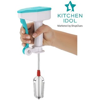 Kitchen Idol Power Free Plastic Hand Blender Or Beater - Multiple Colors