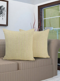 Klotthe set of 2 Multicolor Cushion Covers (16 * 16 inch)