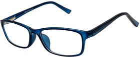 Cardon Matte Blue Rectangular Unisex Full Rim