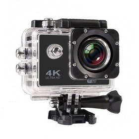 Liberosis 4K Ultra HD Water Resistant Sports Action Camera with 2 Inch Display  16MP, Black