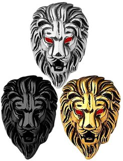Men Style Lion Head Ring Best Quality Stainless Steel Black Silver Gold Ring