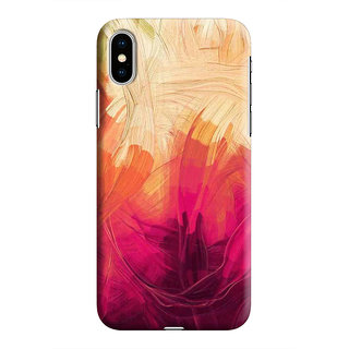 PrintVisa Paint Painting Cool Bush STokes Patterns Designer Printed Hard Back Case For iPhone Xs - Multicolor