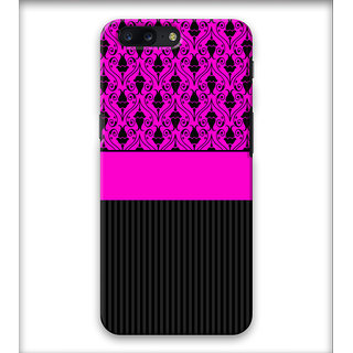 PrintVisa Flower Lines Pink Grey Pattern Designer Printed Hard Back Case Cover For iPhone 7 Plus - Multicolor