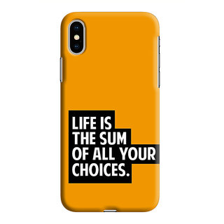 PrintVisa Life Choice Quote Designer Printed Hard Back Case For iPhone Xs - Multicolor