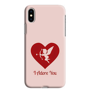 PrintVisa One Day Love Important Person Designer Printed Hard Back Case For iPhone Xs - Multicolor