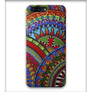 PrintVisa Shapes Designs Cicles Patterns Multicolor Designer Printed Hard Back Case Cover For iPhone 7 Plus - Multicolor
