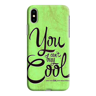 PrintVisa Cool Quote Black Quotes Messages Designer Printed Hard Back Case For iPhone Xs - Multicolor