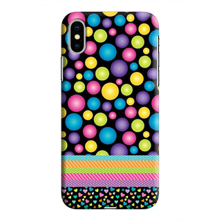 PrintVisa Multicolor Ethnic Design Bubbles Designer Printed Hard Back Case For iPhone Xs - Multicolor
