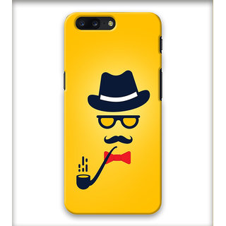 PrintVisa Hat Spectacles Ciggar Mustache Designer Printed Hard Back Case Cover For iPhone 7 Plus - Multicolor