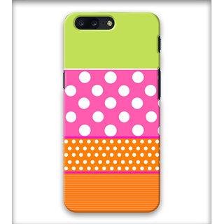 PrintVisa White Dots Multipattern Designer Printed Hard Back Case Cover For iPhone 7 Plus - Multicolor