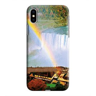 PrintVisa Niagara Fall Falls Water Canada Nature Designer Printed Hard Back Case For iPhone Xs - Multicolor