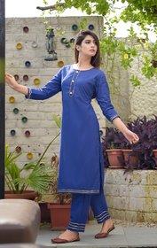 Dhruvi Party Wear Cotton Kurta with Palazzo Set for Women