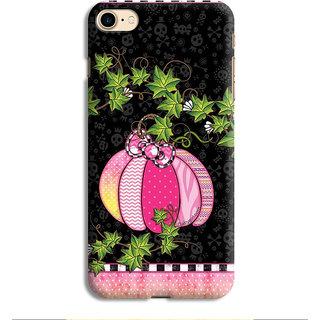 PrintVisa Pumpkin Vegetable Fruit Haloween Ghost Pink Bhoot Designer Printed Hard Back Case For iPhone 8 - Multicolor