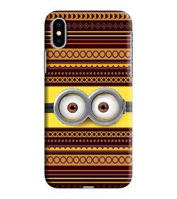 PrintVisa Multicolor Ethnic Design Eyes Designer Printed Hard Back Case For iPhone Xs - Multicolor
