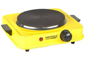 KUMAKA Sheffield Classic Electric Stove Supports All Vessel Cooking in Kitchen (Yellow)