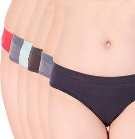 ELIANA Pure Cotton High Weist Women Panties set of 6