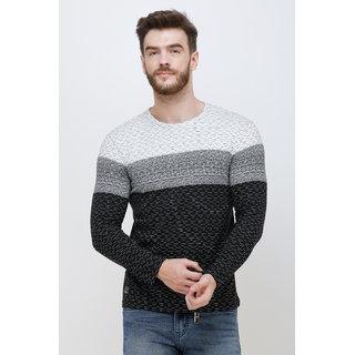 Colvyn Harris Men's Casualwear Full Sleeves Round Neck Slim Fit Black T-shirt