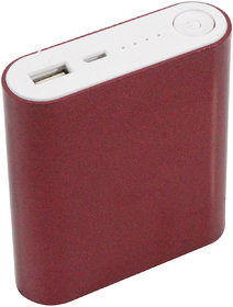 Hobins Light Weight Easy To Carry Ultra Portable Battery Charger 10400 MAh Power Bank (Red)