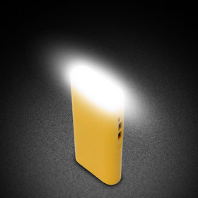 Hobins tall torch with 2 USB ports 20000 mah power bank (yellow)