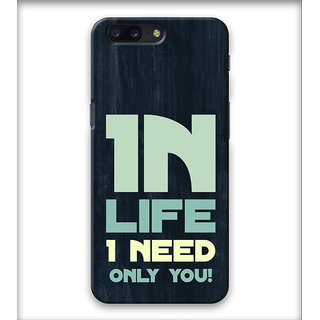 PrintVisa Life Need Quote Case Cover Designer Printed Hard Back Case Cover For One Plus 5 - Multicolor