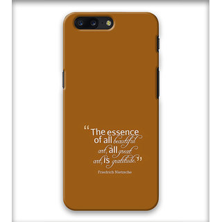 PrintVisa One Day Love Important Person Designer Printed Hard Back Case Cover For One Plus 5 - Multicolor