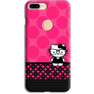PrintVisa Pink Circles Grey Lines Multipattern Black Designer Printed Hard Back Case Cover For One Plus 5T - Multicolor