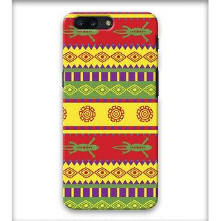 PrintVisa Patterns Design Egypt Ethnic Engravings Designer Printed Hard Back Case Cover For One Plus 5 - Multicolor