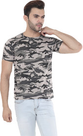 Ample Men Round Neck Army printed T-shirts