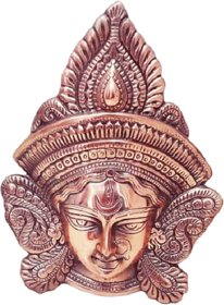 METALCRAFTS Metal Handicrafts, Durga Face wall hanging, made of Aluminium with copper polish, ht. 11