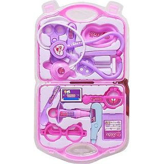 Doctor Kit Pretend Play Doctor Playset Medical Carry-case Nurses Toy Set Fun Toy Gift Early Education For kids (Pink)