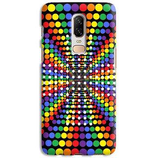 PrintVisa Colourful Pattern & Design Designer Printed Hard Back Case Cover For One Plus 6T - Multicolor