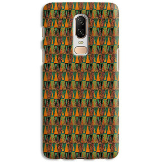 PrintVisa Multicolor Ethnic Design Designer Printed Hard Back Case Cover For One Plus 6 - Multicolor