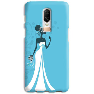 PrintVisa Bride Women Marriage Lady Black Designer Printed Hard Back Case Cover For One Plus 6T - Multicolor