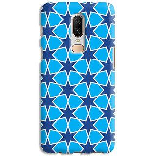 PrintVisa Blue Color Ethnic Design Designer Printed Hard Back Case Cover For OnePlus 7 - Multicolor