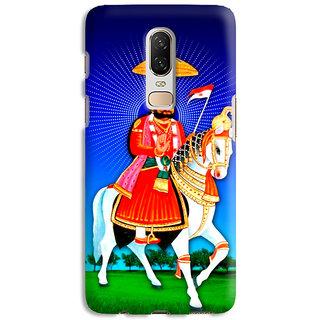 PrintVisa Ramdevji Ramapeer On Horse Designer Printed Hard Back Case Cover For OnePlus 7 - Multicolor