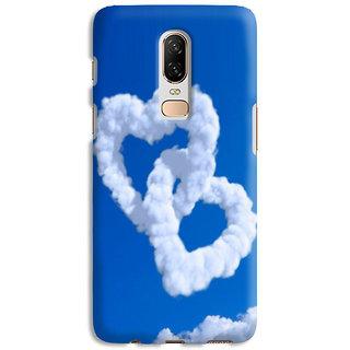PrintVisa Heart Dil Romance Cloud Sky Designer Printed Hard Back Case Cover For OnePlus 7 - Multicolor