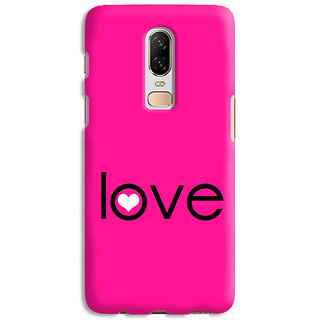 PrintVisa Love Dots Lovely Beautiful Pink Designer Printed Hard Back Case Cover For One Plus 6 - Multicolor